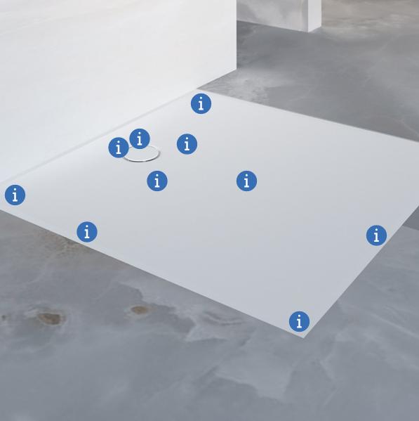 מקלחות בעלת רצפה חלקה