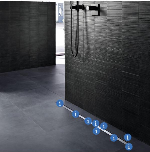 ראו מהם היתרונות של תעלת הניקוז למקלחת של Geberit