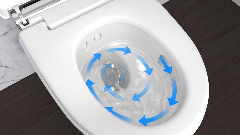 טכנולוגיית Geberit AquaClean TurboFlush