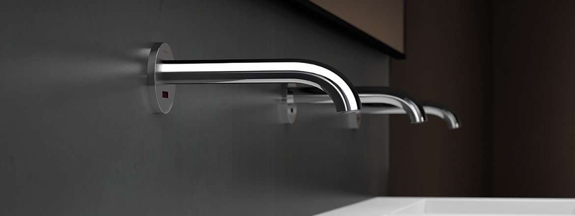 Geberit Piave wall-mounted taps in bathrooms or public facilities