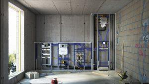 מערכת הקיר הקדמי Geberit Duofix למבנה קיר גבס