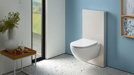 Geberit Monolith מודל סניטרי בצבע אפור חול
